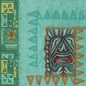 Tiki Tapa Blue