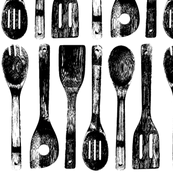 Wooden Cooking Spoons - Vertical