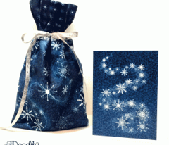 Cut & Sew Snowflakes Gift Bag
