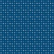 Snowflakes Grid on Blue