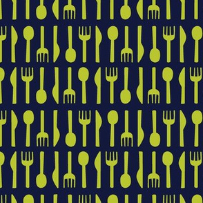 Cutlery Lime Green