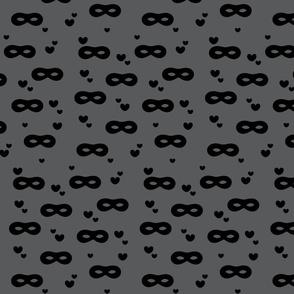 Loving masks grey