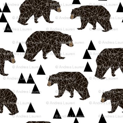 Geometric Bear White Trendy Minimal Cool Scandinavian