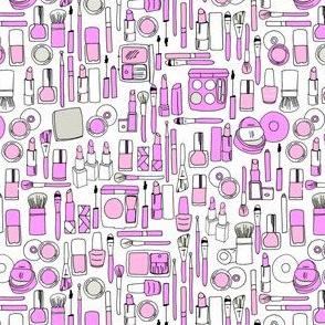 makeup // purple beauty makeup girly print