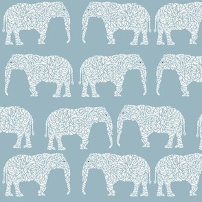 geo elephant  blue nursery boy kids baby boy elephant cute design