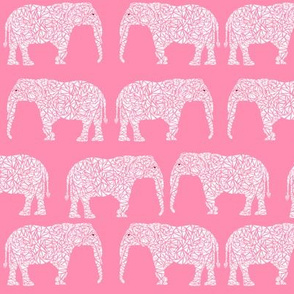 elephant pink baby girl nursery cute animal print for baby nursery