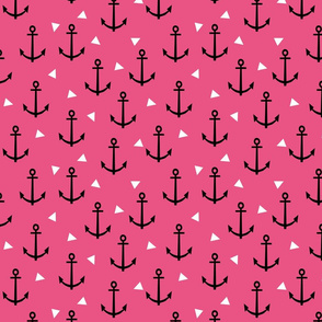 anchor triangle dark pink