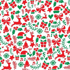 Christmas Holiday Pattnern Red Green White