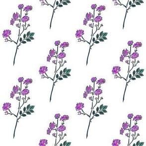 Danita's Friendly Flowers in Purple