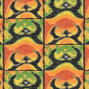 Capture The Rising Sun -  Orange/yellow/green/charcoal