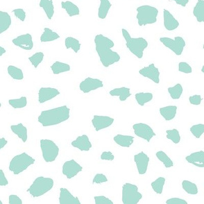 Pastel love brush spots and ink dots hand drawn modern illustration pattern scandinavian style pattern in soft mint