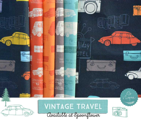 Vintage Travel Black Green