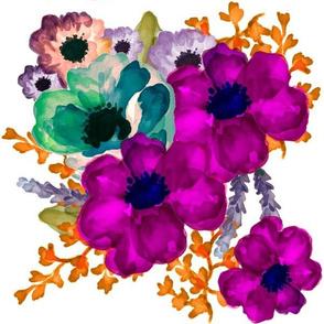 Mod Vibrant Flowers