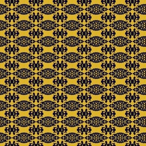 Mustard Gold, Black Lace