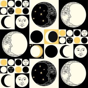 Op Art Moon Phases