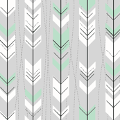 Retro Mint Gray Arrows