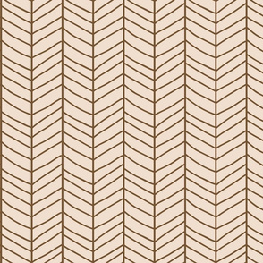 Chevron beige and brown