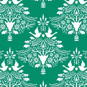 Christmas Paper Cutting Green