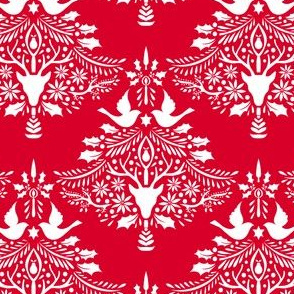 Christmas Paper Cutting Red