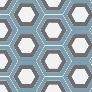 Layered Hexagons Wedgwood