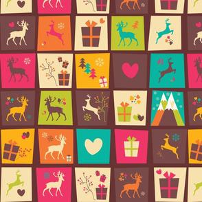 Christmas Reindeer Pattern 04