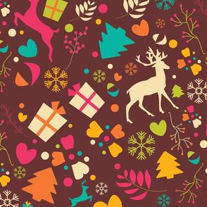 Christmas Reindeer Pattern 07