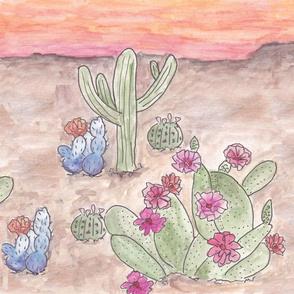 Southwest Scene in Watercolor