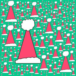 Forest of Santa Hats