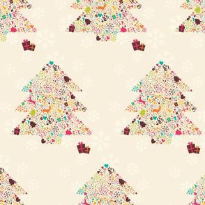 Ornamental Christmas tree 01