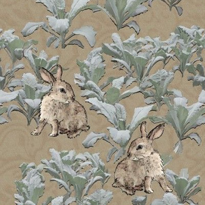Rabbits in the Kale