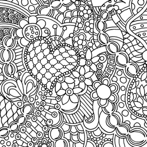 Butterfly Zendoodle Color or Paint Your Own