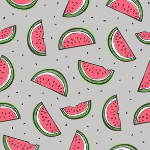 Watermelon on Grey