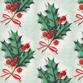 Vintage Christmas Holly