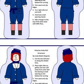 Victorian Andy Cut and Sew Doll