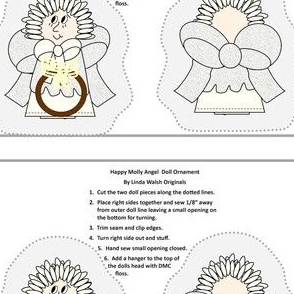 Happy Molly Angel Cut and Sew Angel Doll Ornament