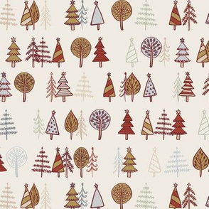 Gingerbread Trees - Gold & Copper