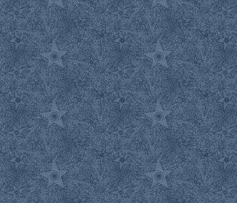Starry night sky in blue fabric inspired me studio for Starry sky fabric