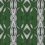 Geometric Mantis On Forest Green