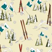 ski mountain landscape by Diane Gilbert