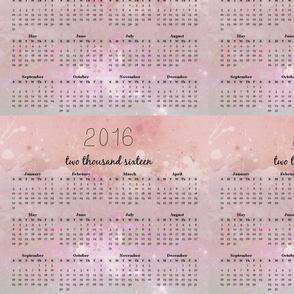 pink pastel calendar