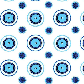 Blue and Aqua Circles