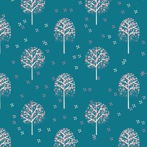arbre Aurélie bleu canard
