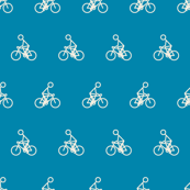 Cyclist in Blue