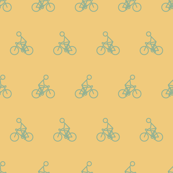 Cyclist in Yellow