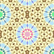 hot summer desert oasis mosaic