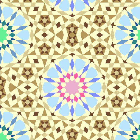 hot summer desert oasis mosaic