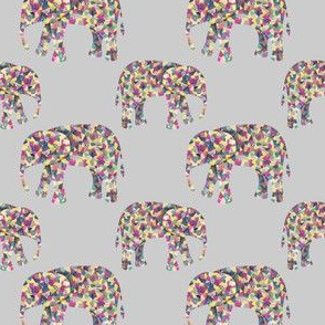 Colorful Elephant Collage
