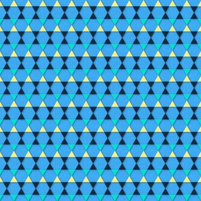 Losanges&Triangles (Blue)