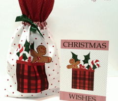 Cut and Sew Christmas Gift Bag in Red