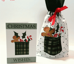 Cut and Sew Christmas Gift Bag in Green